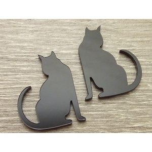 Jewelry - Black Cat Clip On Earrings